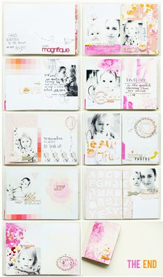 Stunning mini by Anna-Maria - Together :: letterpress  watercolour mini book by ania-maria at @Studio_Calico