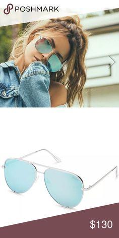6c740a0142 NWT Quay x Desi Perkins High Key Sunglasses Blue YouTube Beauty Guru Desi  Perkins and Quay