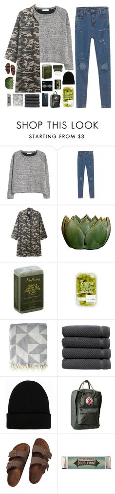 """""""well, shake it out, baby, now"""" by kristen-gregory-sexy-sports-babe ❤ liked on Polyvore featuring MANGO, WithChic, SheaMoisture, Ratzer, Linum Home Textiles, NLY Accessories, Birkenstock, LIST, Michele and Miss Bibi"""
