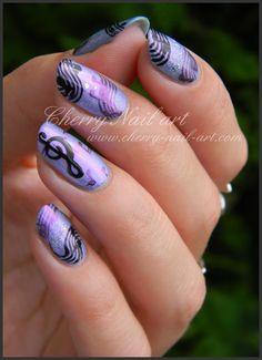 music nails - nail art
