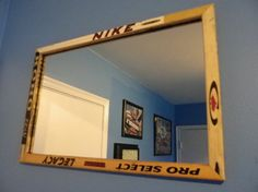 24 x 16 Hockey Stick Wall Mirror for Hockey by legendglassdesigns, $49.00