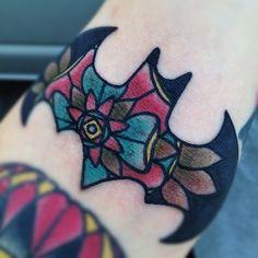 Beautiful and girly Batman tattoo
