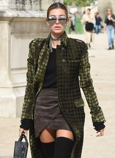 """Drench yourself in a velvet coat like Hailey  Click """"Visit"""" to buy #DailyMail"""
