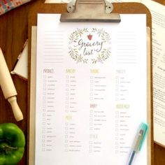 This free printable grocery list has editable text! Just download, fill in your text, and print. Grocery shopping might even become fun...