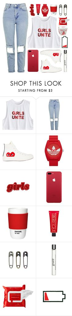 """""""i need my girls with me ♡"""" by xo-nichole ❤ liked on Polyvore featuring Topshop, Comme des Garçons, adidas Originals, Pantone, Benefit, Tim Holtz, philosophy, Sephora Collection and valesonehundred"""