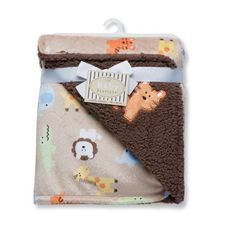 Baby Starters Safari Print Reversible Blanket - Very soft and warm. Used when going outside and for tummy time.