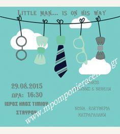 Προσκλητήριο βάπτισης ο μικρός κύριος με το παπιγιόν Little Man, Invitations, Bottle, Baby, Flask, Babies, Infant, Invitation, Child