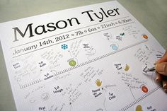 Personalized Baby milestones timeline poster with by BabyStepsBook, $25.00