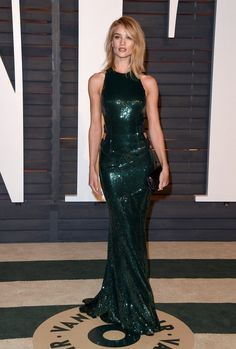 Stars at the Vanity Fair Oscar Party - Celebrity Fashion Trends
