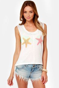 Billabong She Sells Ivory Muscle Tee