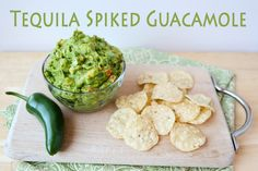 Tequila Spiked Guacamole