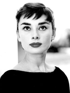 Audrey Hepburn. I love this particular pose. It's a bit different than her usual head shots. Plus, it's just so stunning.