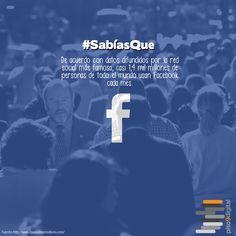 Datos acerca de #Facebook #piso9digital #sabíasque #curiosidades