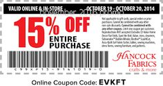 Hancock Fabrics Coupons Ends of Coupon Promo Codes JUNE 2020 ! On in Baldwyn, crafting and fabrics based Hancock Mississippi. Store Coupons, Grocery Coupons, Dollar General Couponing, Coupons For Boyfriend, Coupon Stockpile, Hancock Fabrics, Free Printable Coupons, Extreme Couponing, Coupon Organization