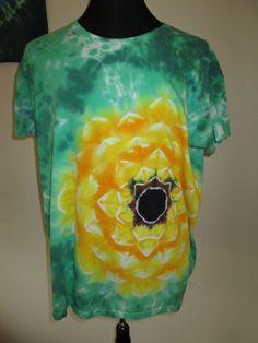 Ladies 3XLarge Tie Dye Tshirt SunflowerLotus by AlbanyTieDye, $23.00