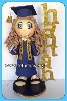 A personal favorite from my Etsy shop https://www.etsy.com/listing/130714763/3-graduation-3d-foamy-fofucha-doll
