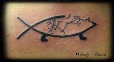 atheist tattoo darwin fish - Google Search