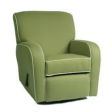 """Silhouette Curve Arm Recliner - Pistachio with White Piping Oxford Fabric - The Kacy Collection - Babies """"R"""" Us"""