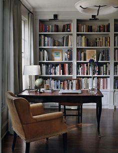 Trendy Home Library Office Bookshelves Built Ins 53 Ideas Floor To Ceiling Bookshelves, Office Bookshelves, Bookshelf Design, Built In Bookcase, Bookcases, Kitchen Bookcase, Unique Bookshelves, Bookshelf Wall, Shelving Design