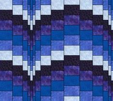 Bargello Blues is an online class designed and taught by Ruth Blanchet