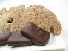 An entire site full of dog-friendly recipes.  This pic is of carob covered dog cookies.