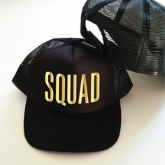 aa00ae4700abe Squad Hat. Trucker Hats. Bridal Shower Hats. Wedding Party Hats.  Bachelorette Party Hast. Bridesmaid Hat. Maid Of Honor Hat. Hen Party Hats