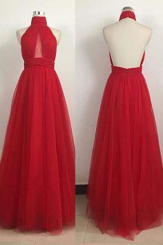 sexy prom dresses, A-line prom dresses, red prom dresses, open back prom dresses, backless prom dresses, long evening dresses, party dresses#SIMIBridal #promdresses