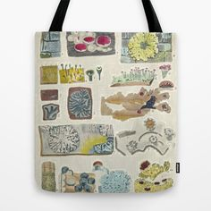 lichen Tote Bag by anipani - $22.00