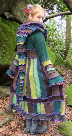 CORRECTION...I WANT THIS ONE Green Forest fairy Coat uk 14 us 12  Upcycled sweaters by Fairytea, $440.00