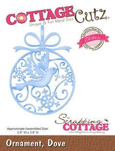 Cottage Cutz - Elites die - Dove Ornament