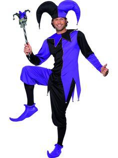 78b14f40600 Medieval Jester Costume Mardi Gras Fancy Dress