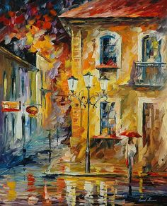 Night Of Disappointments Painting By Leonid Afremov.