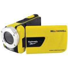 Bell+Howell Splash 1080p Full HD Digital Waterproof Video Camera with 1x Optical Zoom