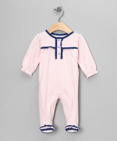 Take a look at this Pink Ahoy Footie - Infant on zulily today!
