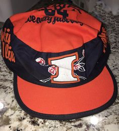 96af79fb2 University Illinois Fighting Illini Football 1984 Rose Bowl Hat Cap BLUE  ORANGE | eBay