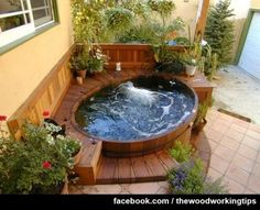 Hot tub deck….Who would like to jump