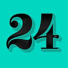 Number 24 | Manolo Frausto Basketball Is Life, Lucky Number, Typography, Lettering, Numbers, Illustration, Fun, Dates, House Ideas