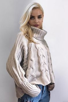 8DESS Turtleneck Knitted Pullover Sweater Autumn Winter Knitting Sweater