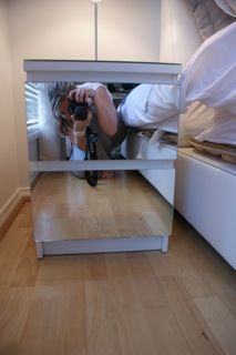 Mirror bedside table feat. Malm/Minde & A diy Malm dresser / nightstand from Ikea with mirror foil. Easy ...