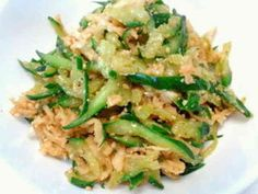 Kiriboshi Daikon and Cucumber Japanese Side Dish Japanese Side Dish, Japanese Food, Asian Side Dishes, Salad Recipes, Food And Drink, Cooking Recipes, Lunch, Meals, Dinner