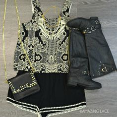 Roundup Wrangler Black Studded Riding Boots