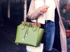 Rola wearing the Michael Kors Miranda handbag. February 2014