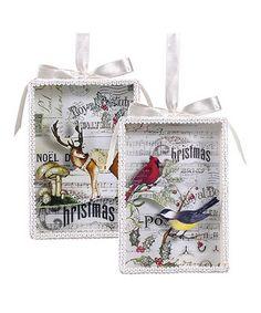 Christmas Song Shadow Box Ornament Set