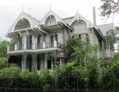 Sandra Bullock's home, a historic Victorian Mansion in New Orleans' Garden District.