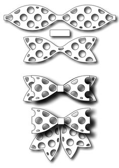 Frantic Stamper - Precision Dies - Small Polka Dotted Paper Bow,$9.99