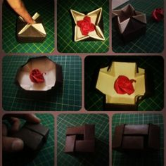 Different types of Gift Box made with Two tone Brown Paper.