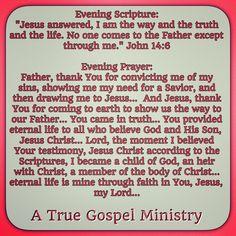 Evening Scripture... Evening Prayer..