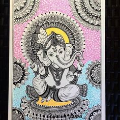 Hindu Lord Ganesha Home decor art print Baal Ganesh   Etsy