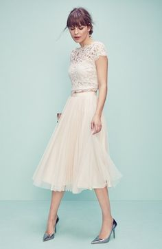 Nordstom - lace crop and tulle skirt