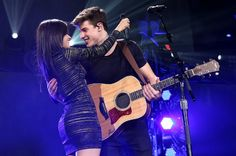 Camila Cabello performs with Shawn Mendes during 103.5 KISS FM's Jingle Ball Camila Cabello of Fifth Harmony performs with Shawn Mendes onstage during 103.5 KISS FM's Jingle Ball 2015 presented by Capital One at Allstate Arena on Dec. 16, 2015 in Chicago, Ill.,Music Photos of 2015: December | Billboard